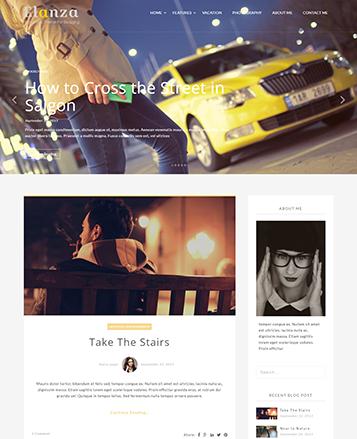 Elanzalite Free Blog Theme - Themehunk WordPress Responsive