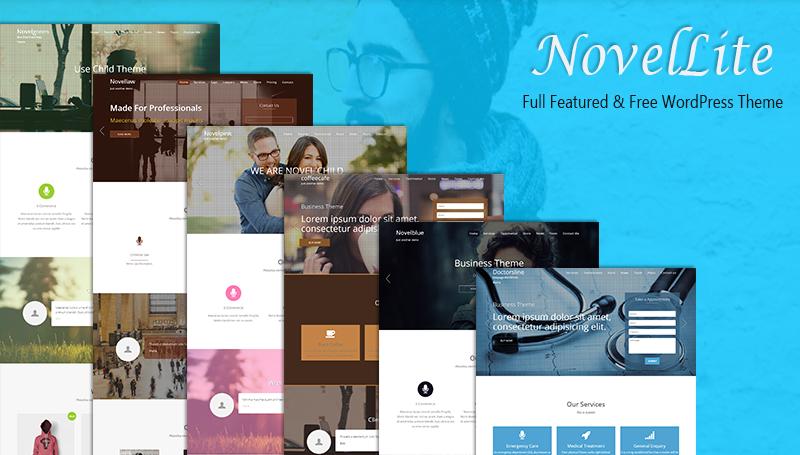 Novellite - One Page WordPress Theme - ThemeHunk WordPress theme