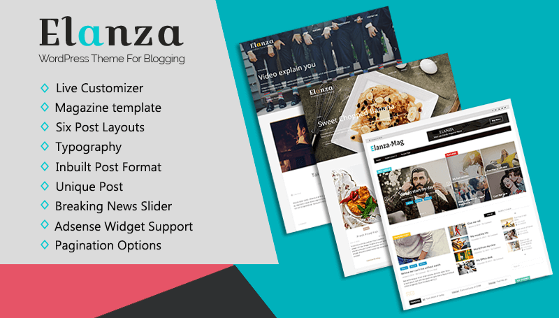 Elanza - Blogging Theme - ThemeHunk WordPress Responsive Theme
