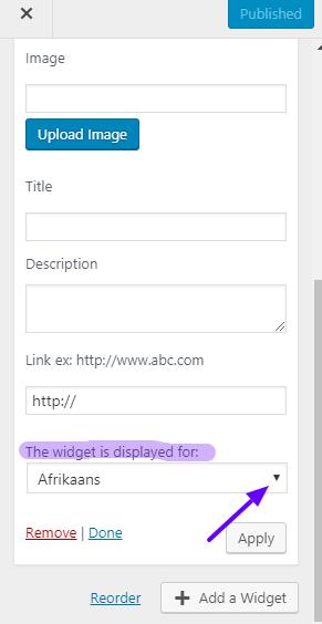 polylang widget translation