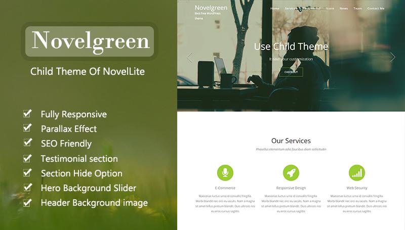 Novelgreen One Page Wordpress Theme Themehunk Wordpress