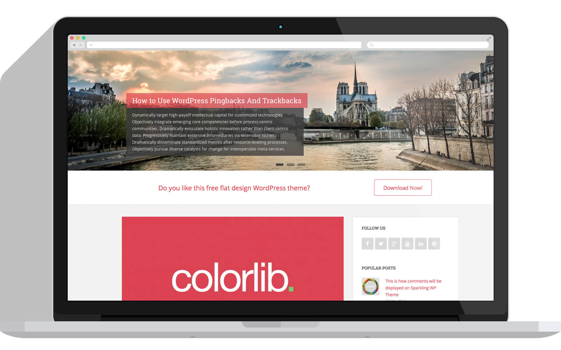 20+ Parallax Free One Page WordPress Themes 2016 - ThemeHunk