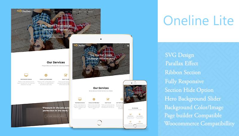 oneline lite theme themehunk wordpress responsive theme