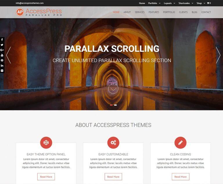 accesspress parallax best premium wp parallax theme 768x634