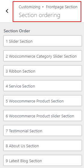 section ordering img shopline