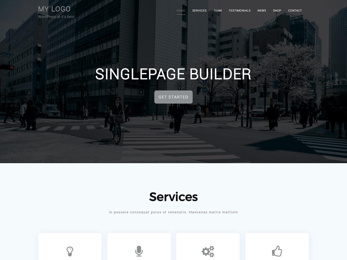 Singlepage builder - ThemeHunk WordPress Responsive Themes