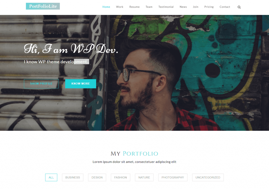 Portfolio-lite-–-Free-Portfolio-Theme