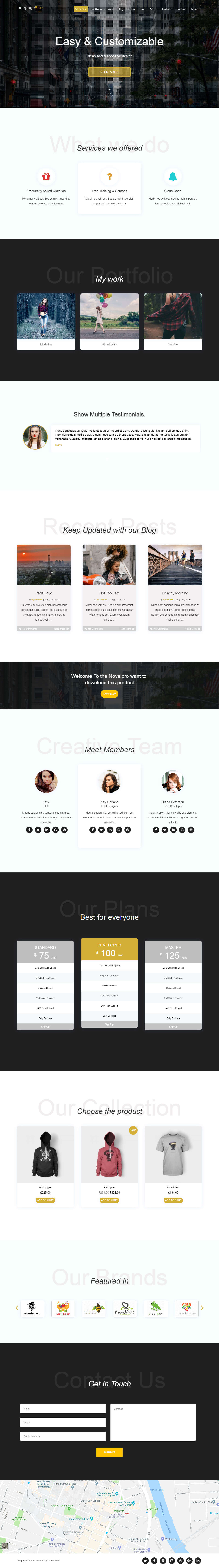 One Page Site Pro
