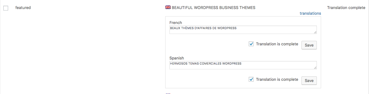 Translate WordPress Themes