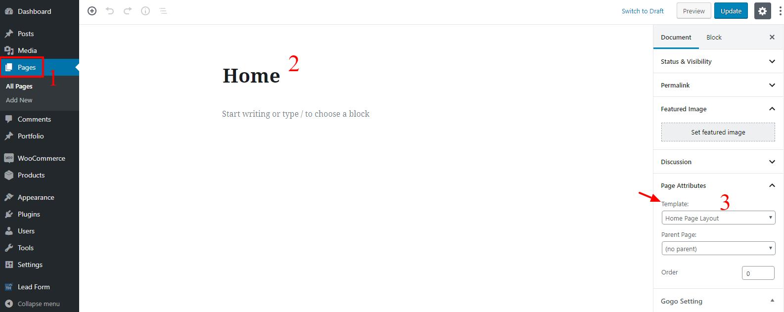 homepage setup gogo