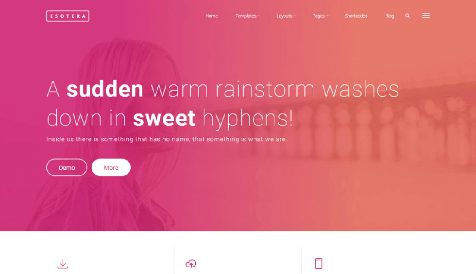 esotera WordPress theme