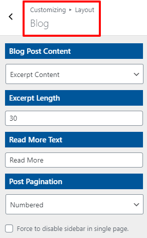 blog setting open shop pro