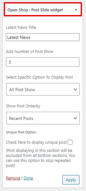 Post-slide-widget-openshop