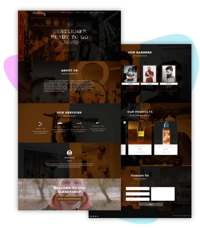template-demo-page-one-click