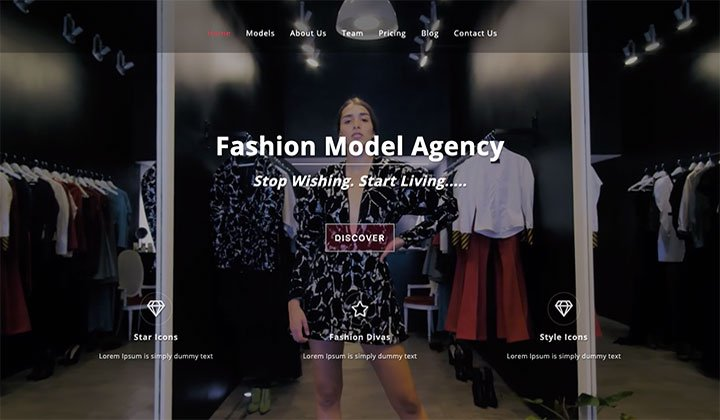 Fashion & Model Theme
