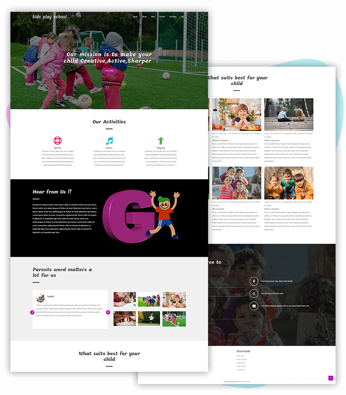 template-demo-page-one-click-kids-play-school
