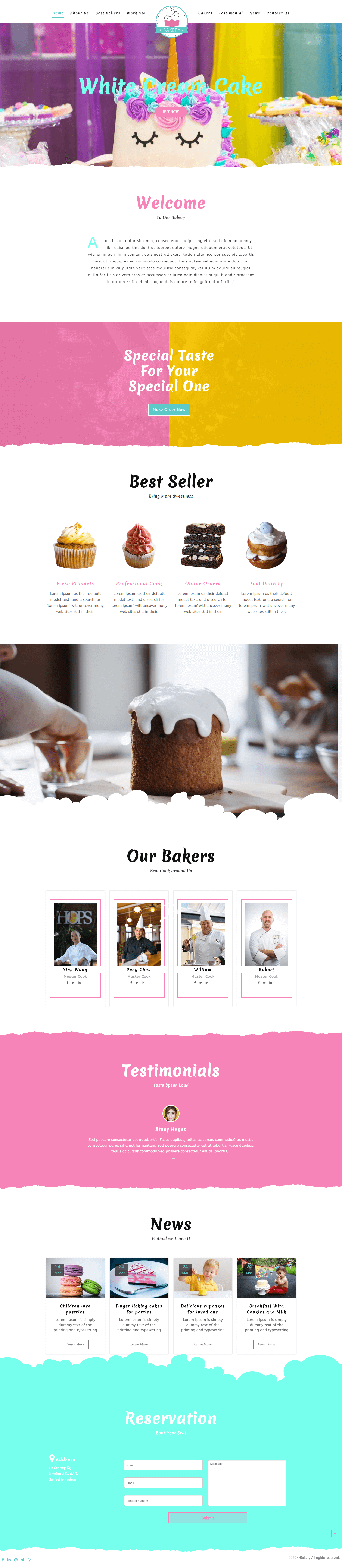 Oneline Bakery Shop