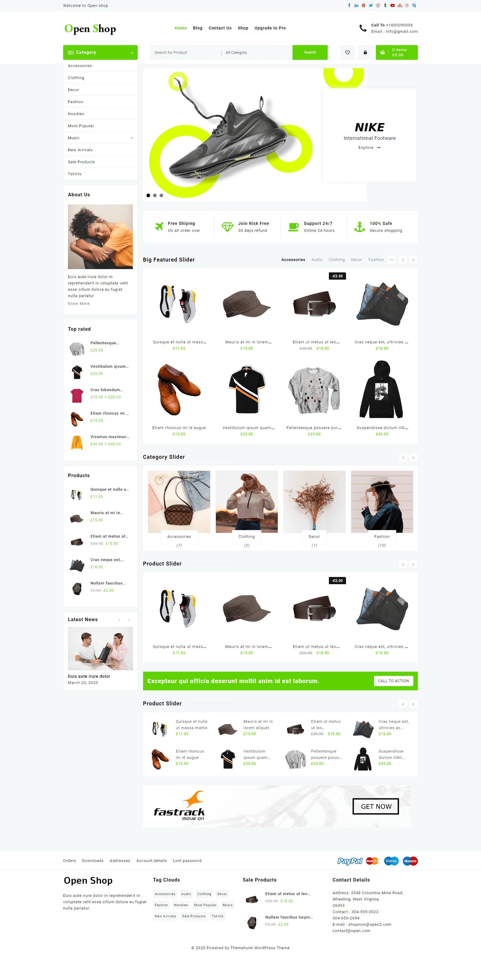 Open Shop Default