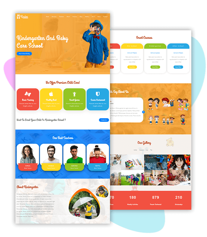 template-demo-page-one-click-kinder-garten