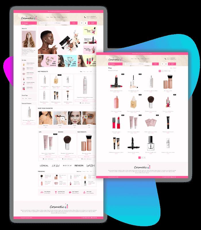 cosmetic store WordPress Theme