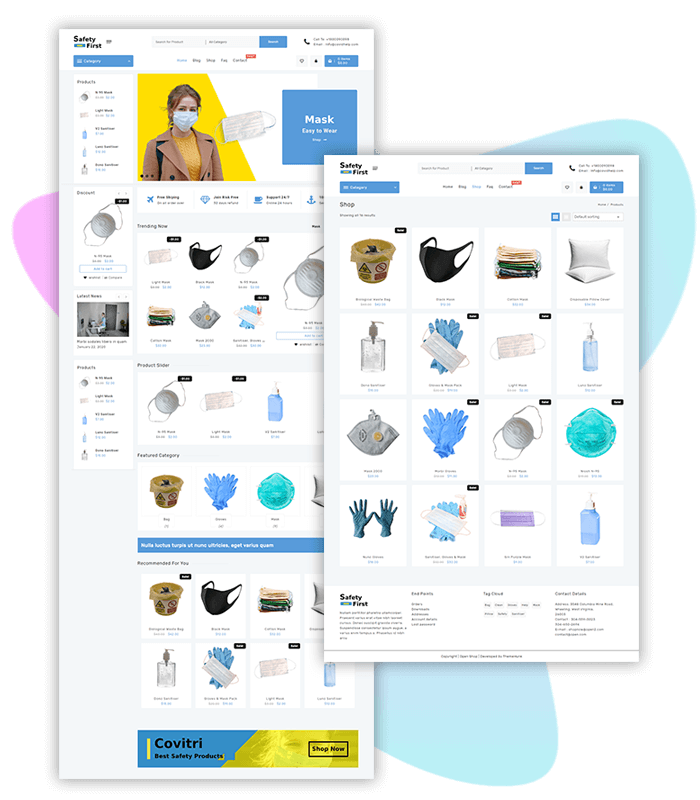 Covid-Safety-Shop-one-click-demo-import