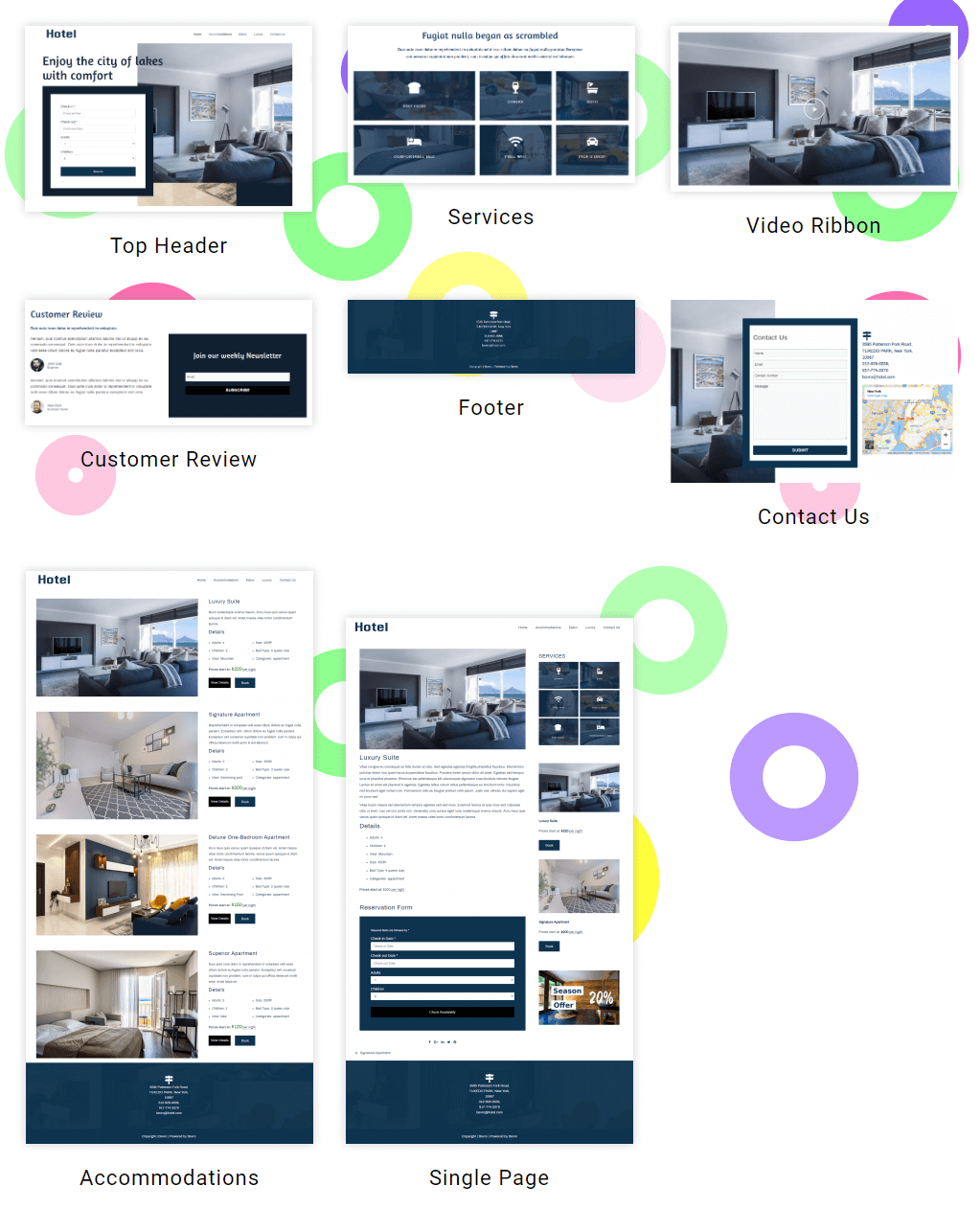 Hotel Booking Sections
