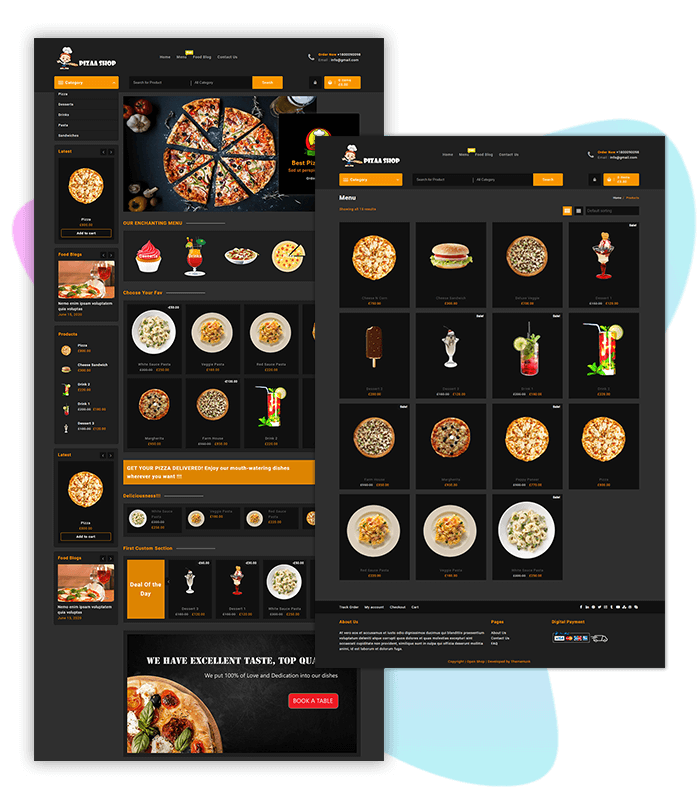 Pizza-Shop-template-demo-page-one-click