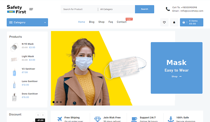 Open Shop E-commerce WordPress Theme