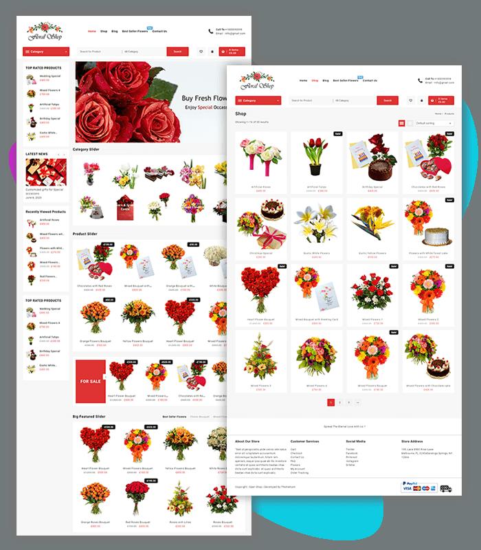 Floral Shop WooCommerce Theme