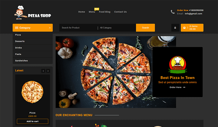 Pizza Shop WordPress