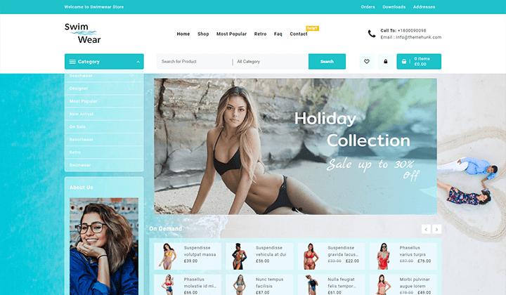 Swimwear wordpress theme
