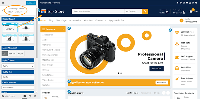 Header-layout-top-store