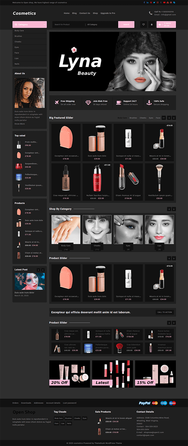 Open Shop Cosmetic