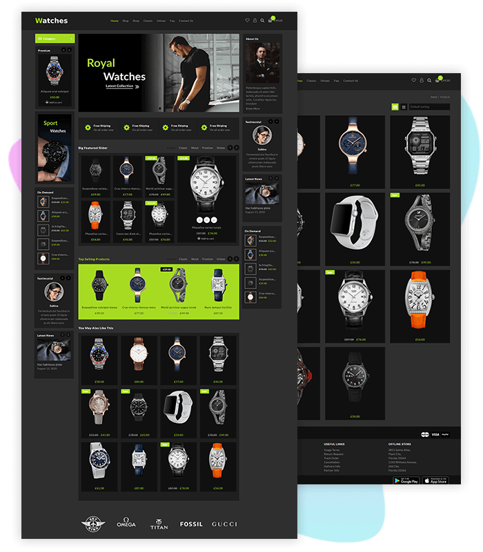Watch-Store-one-click-demo-template