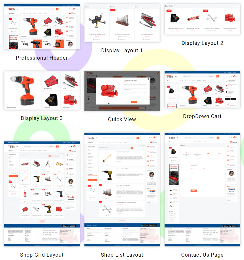 live section tools shop