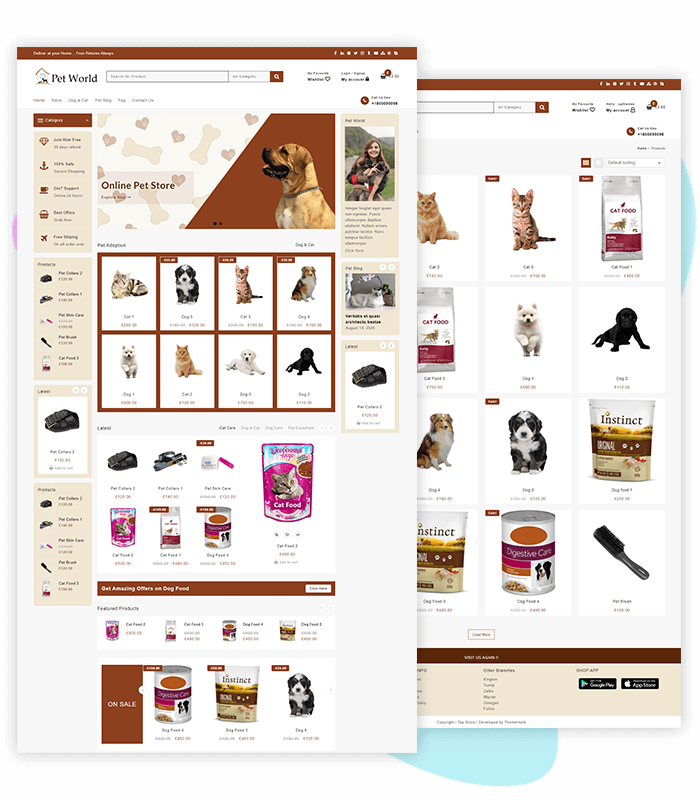 template-demo-page-one-click-pet-store