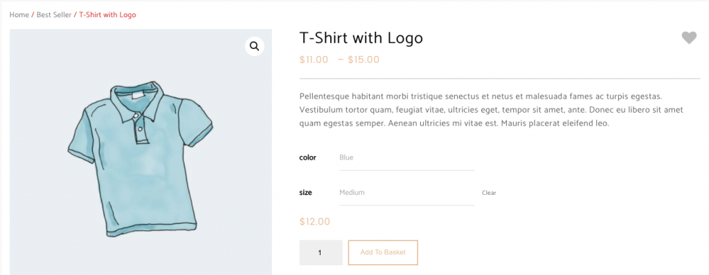 woocommerce variations result