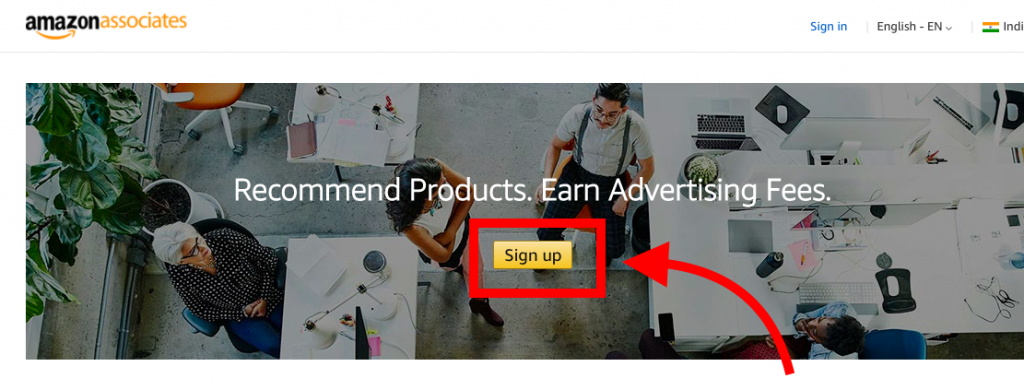 how to signup for Amazon Affiliate program