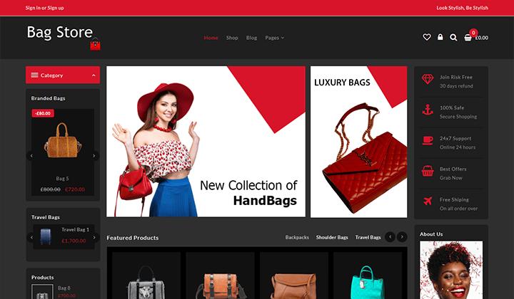best bag shop online woocommerce theme