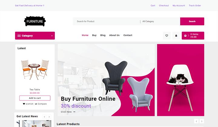 Furniture Shop WordPress