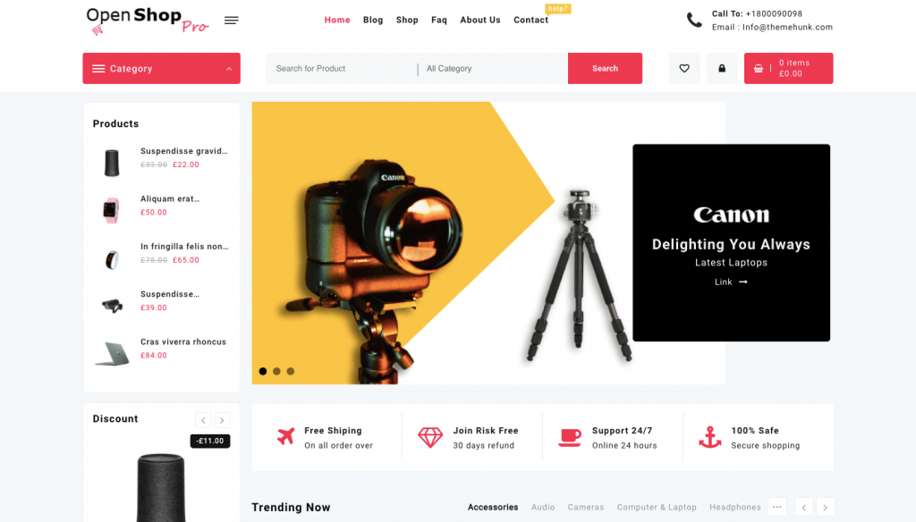 online ecommerce theme for woocommerce