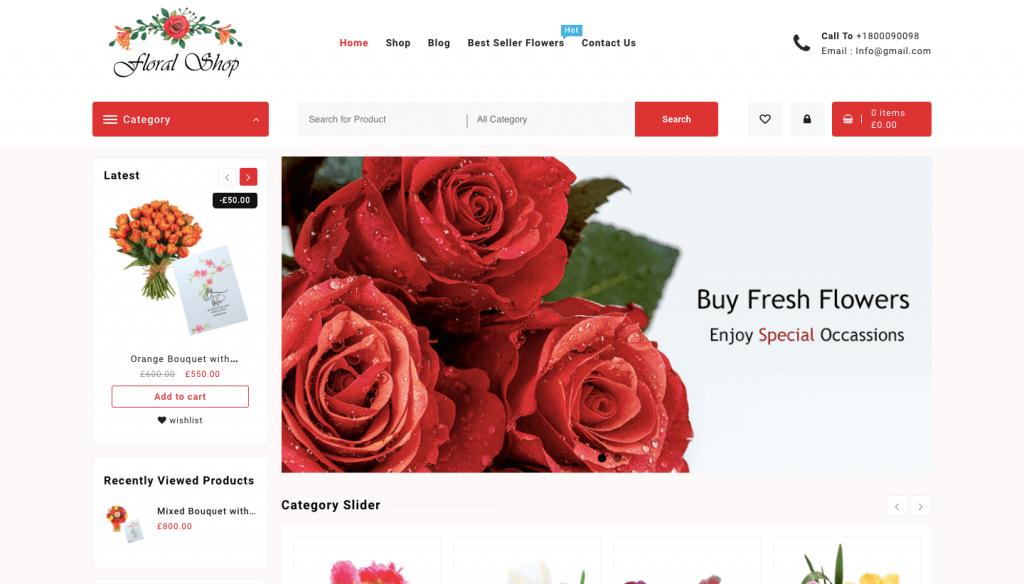 Floral wordpress theme