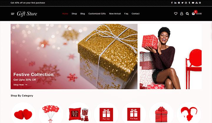online gift store wordpress theme for woocommerce