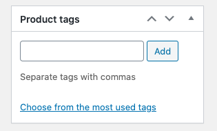 adding woocommerce product tags