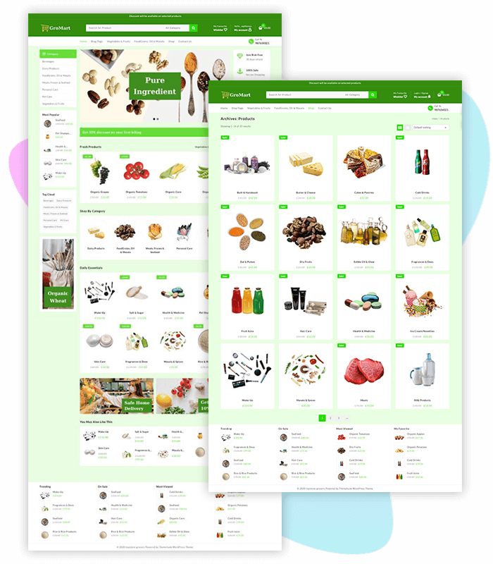 template-demo-page-one-click-Food-&-Grocery-Store