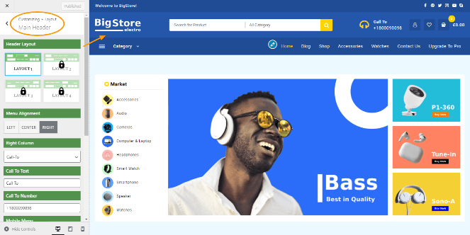 main header big store