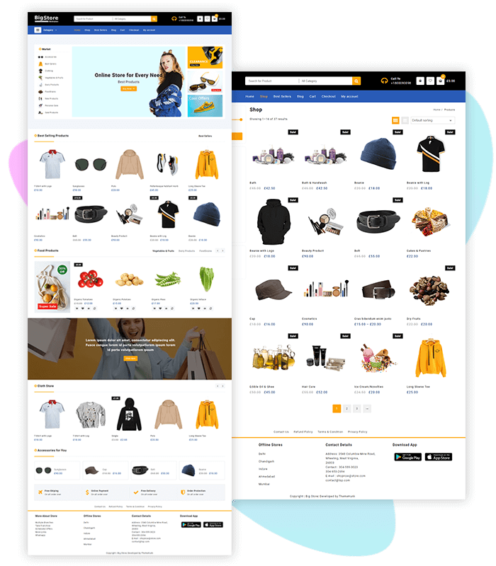 template-demo-page-one-click-marketplace