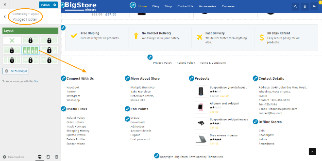 widget footer big store