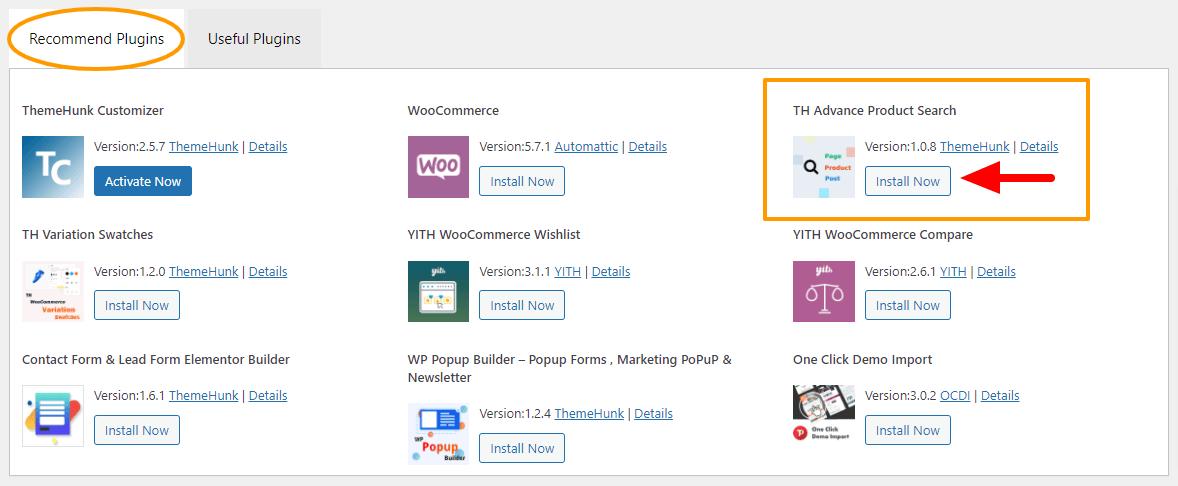 Add search bar in theme