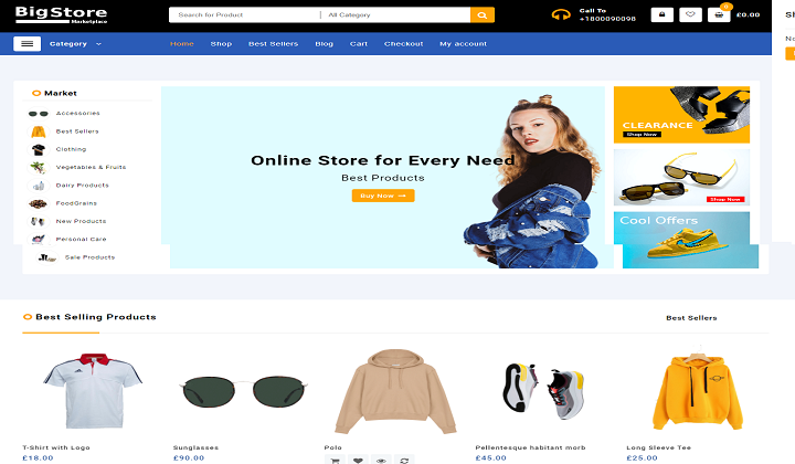 Big Store eCommerce WordPress theme